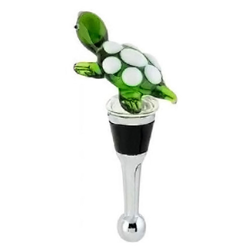 Turtle Art Glass Bottle Stopper BS-093