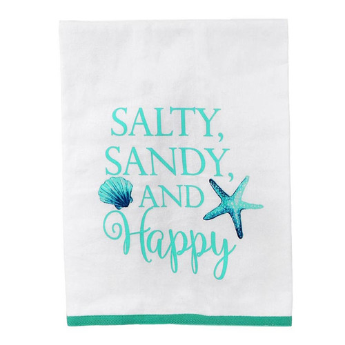 Salty Sandy and Happy Cotton Towel 20274H