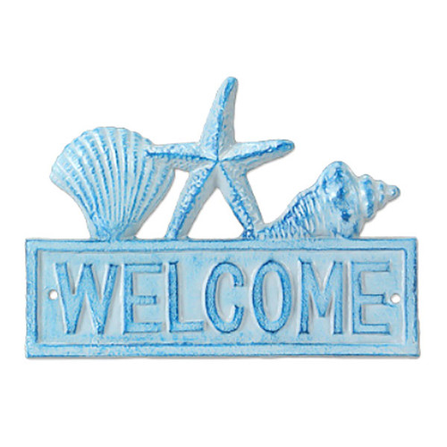 Cast Iron Shell Welcome Wall Hanging 17380