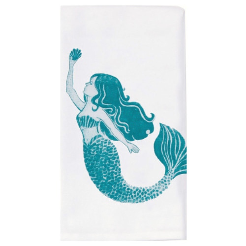 Mermaid Krinkle Flour Sack Towel A8527