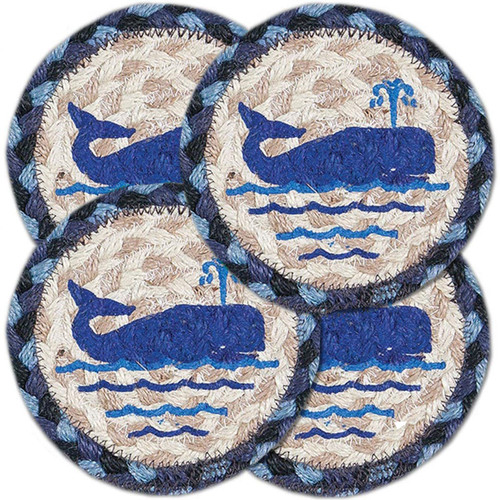 "Whale Coasters - SET OF FOUR - 5"" - IC-443"