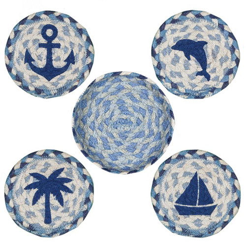 "Coastal Placemats 10"" Four Set CNB-525"