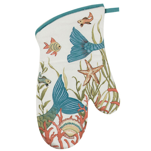 Mermaid Coral Oven Mitt R4065