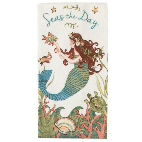 Mermaid Seas the Day Terry Towel R4060