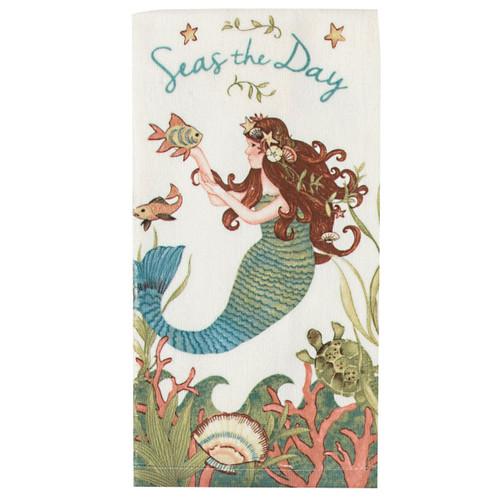 Mermaid Seas the Day Terry Towel R4060
