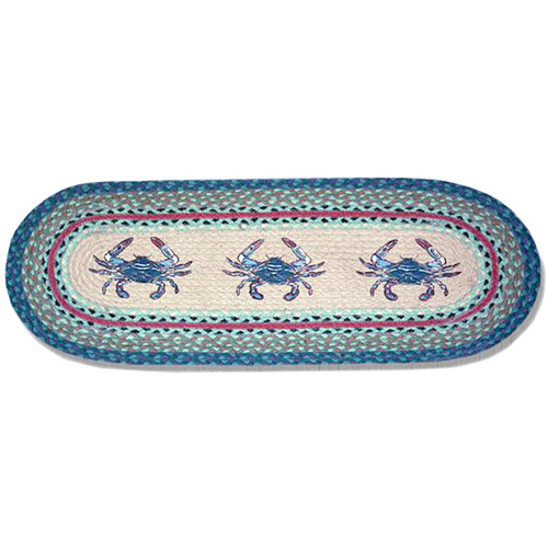 """Crabs Printed Runner 13""""x36"""" by Earth Rugs"""
