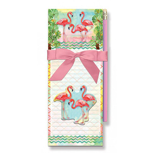 Flamingo Magnetic List Pad with Pencil - 91-432