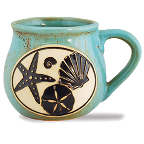 Shell Starfish Beach Ocean Ceramic Comfort Mug 16oz