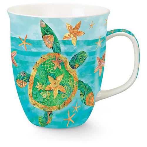 Swimming Tropical Sea Turtle Coffee Mug 718-75