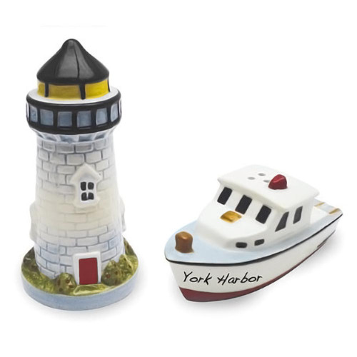 Beach Lighthouse Boat Salt Pepper Shakers Set - 820-02