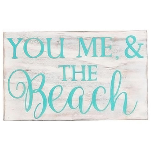 You Me and Beach Wood Sign 20473Y