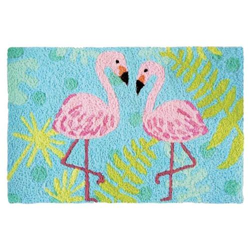 Flamingo Friends Indoor Outdoor Washable Rug