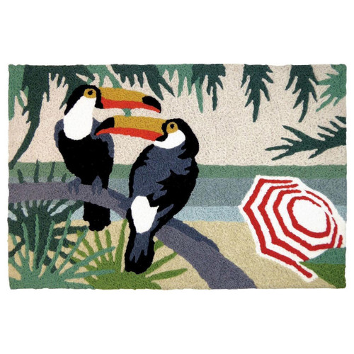 Toucan Duo Indoor Outdoor Washable Rug