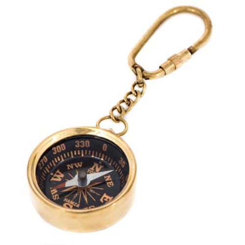 BRASS COMPASS KEY RING K-1928 - Manufacturer's image