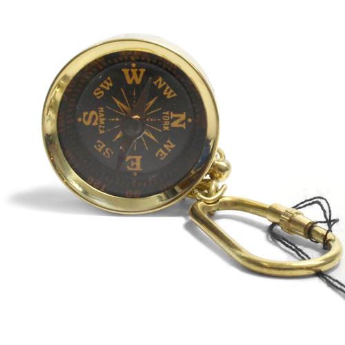 Brass Compass Keychain - Museum Gift Shop - K-1928