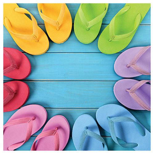 Rainbow Flip Flops Single Absorbent Coaster