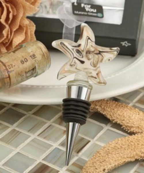 Starfish Glass Swirl Bottle Stopper Q-6143