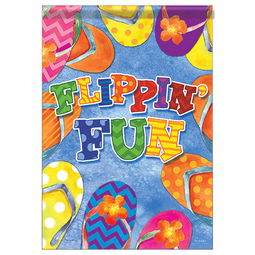 "Flip Flops Flippin Fun Garden Flag - 12""x 18"" - 46527"