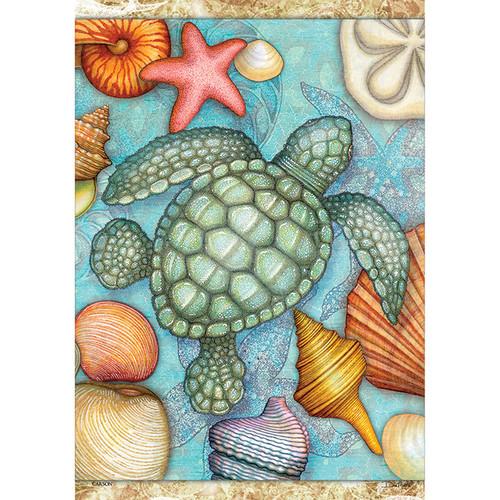 "Sea Turtles and Sea Shells Garden Flag - 12.5"" x 18"" - 46396"