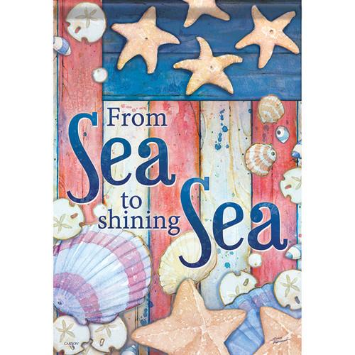"""Sea to Shining Sea Garden Flag - 12.5"""" x 18"""" - 46462"""