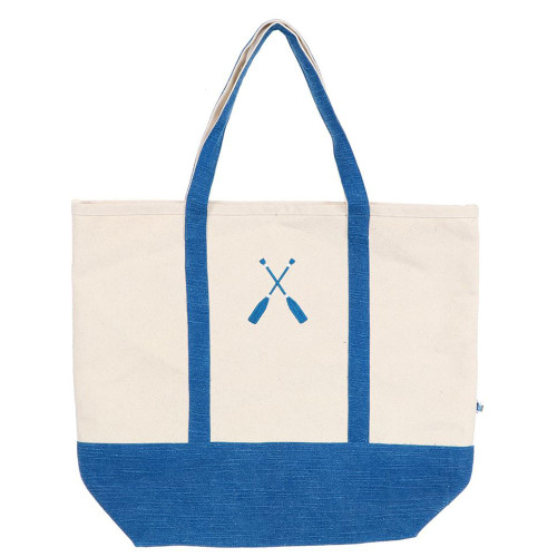 Oar Embroidered Cotton Canvas Tote Bag