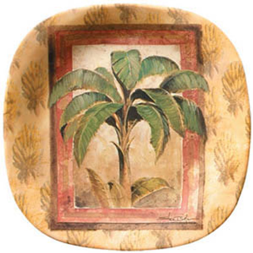 "Palm Tree Brown 8"" Lunch Plate Melamine 25730"