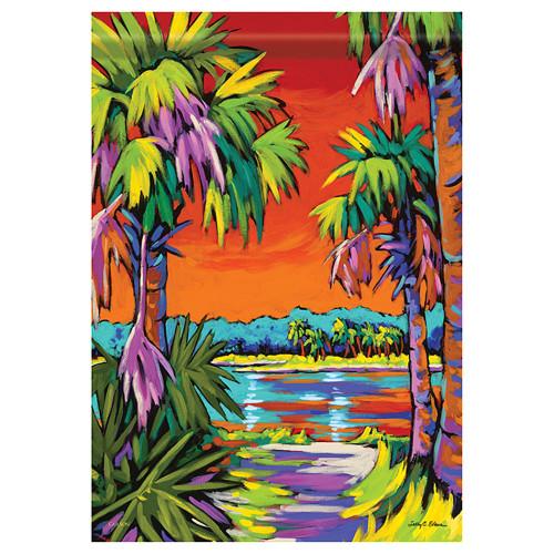 "Tropical Palm Tree Paradise - Garden Flag - 12.5"" x 18"" - 48156"