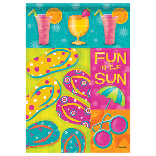 "Summer Medley Fun in the Sun Flip Flop House Flag - 40""x 28"" - 48195"