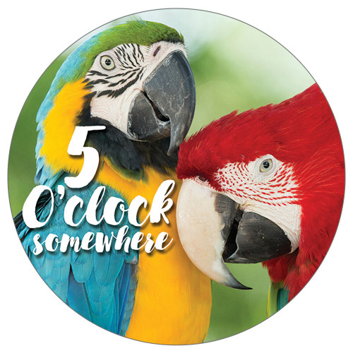 Parrots 5'o Clock Somewhere- Stone Car Coaster CB72839