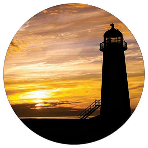 Lighthouse Sunset Absorbent Stone Coaster for Car Cup Holder