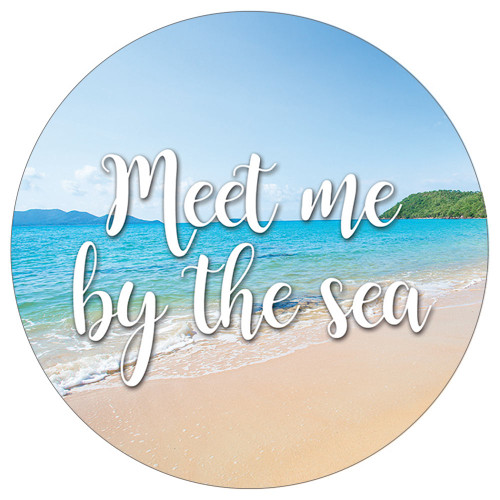 Meet Me by Sea Absorbent Stone Car Coaster CB73167