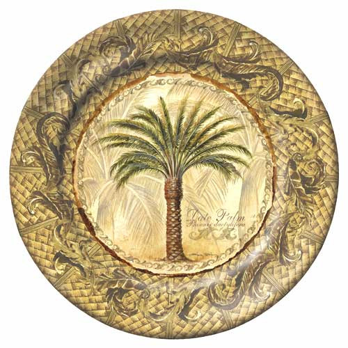 """Majestic Palm 8"""" Lunch Plate Gold Melamine 28000"""
