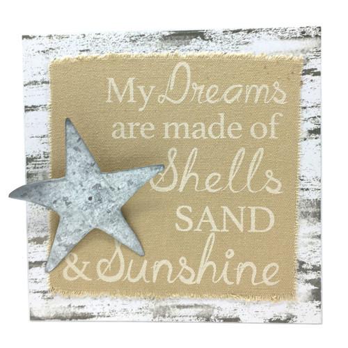 Shell Sand Sunshine Dreams Wood Box Sign 16102B