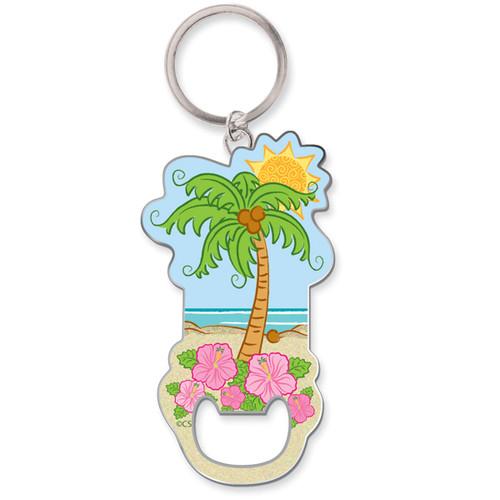 Tropical Palm Tree Keychain Bottle Opener 805-85