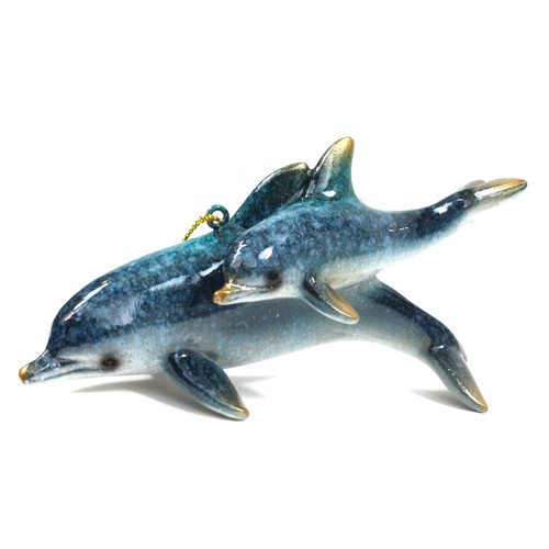 Mother and Baby Dolphin Ornament