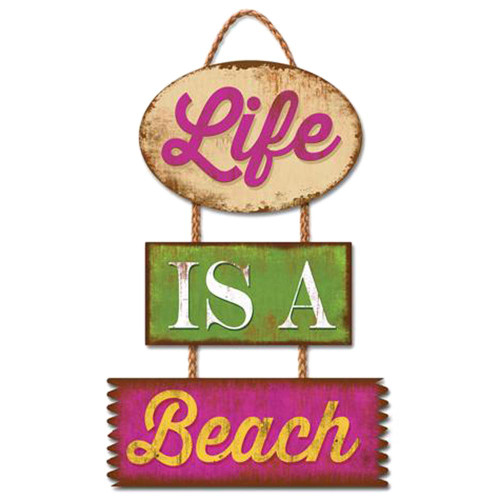 Life is a Beach - Wooden Sign 30-00056