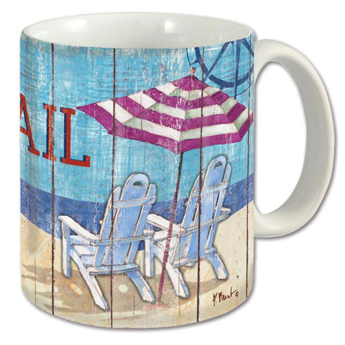 Beach Scene Ceramic Coffee Mug - 12oz - 60477