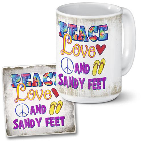 """Peace Love and Sandy Feet"""
