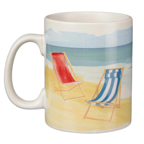 """""""This is my Happy Place"""" - Oversized Ceramic Coffee Mug"""