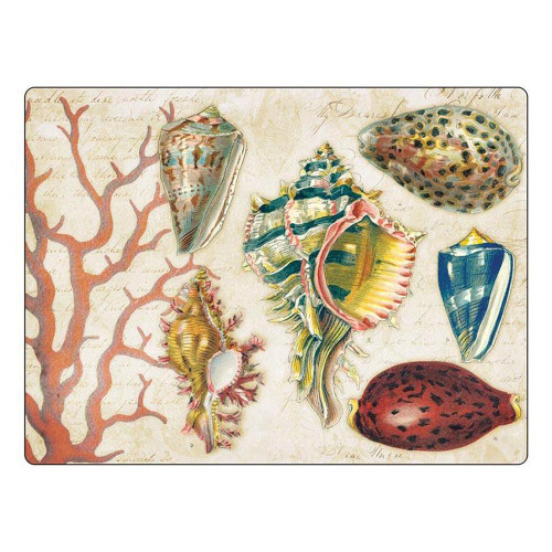 """Sea Shell Cutting Board 16"""" x 12"""" - By The Shore"""