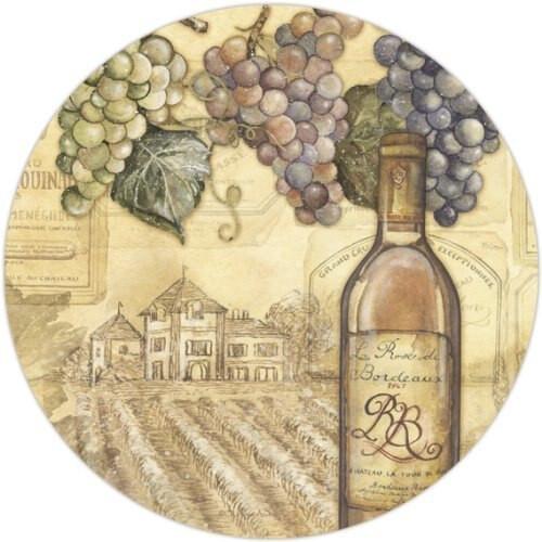 """Vineyards Glass - Glass Lazy Susan - 13"""" Round- 23093"""