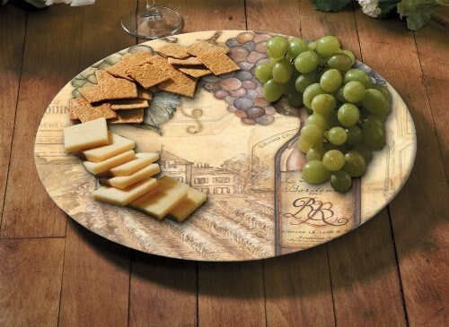 "Vineyards Glass - Glass Lazy Susan - 13"" Round 23093"