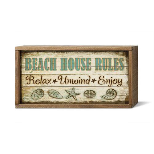 Beach House Rules. Relax Unwind Enjoy