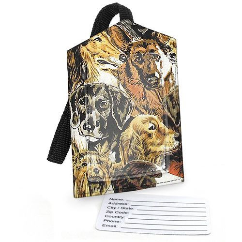 Dog Theme Fabric Luggage Tag - 2040
