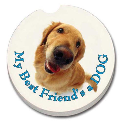 Best Friend Dog Car Coaster 19927