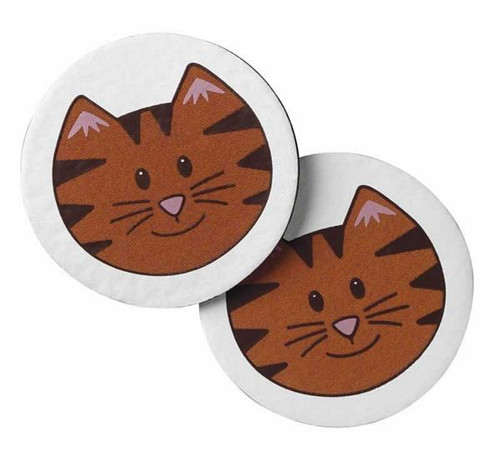 Cat Theme Coasters Set of 4 Orange Cat - 37398