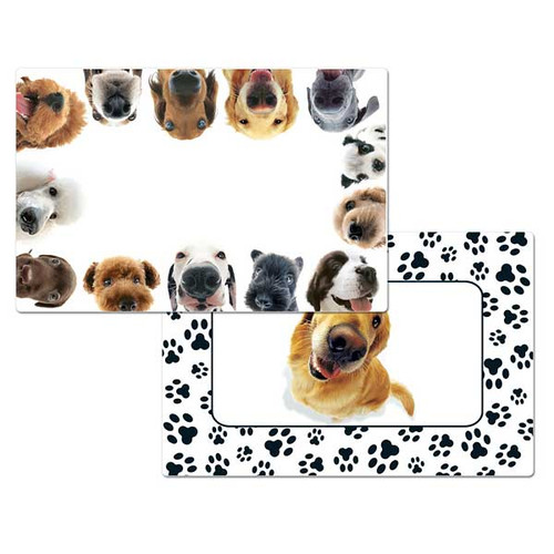 """Dog Theme Reversible Placemat """"In Your Face"""" - 40292"""