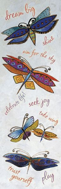 Laurel Burch Dragonflies Bookmarker - 54224