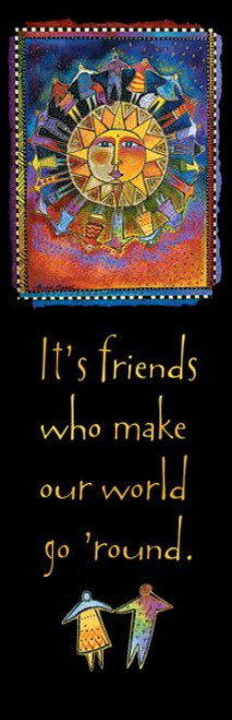 Laurel Burch Friends Bookmarker - 54225