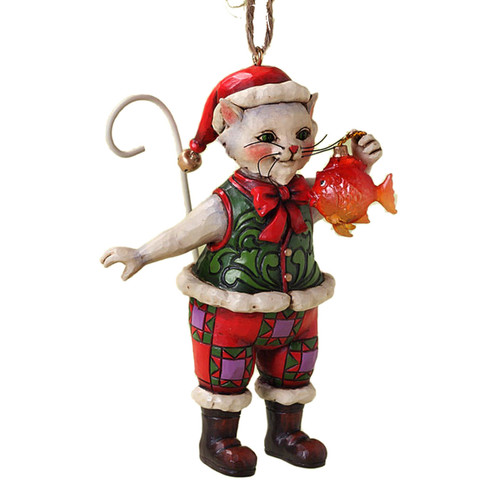 Christmas Cat with Fish Ornament by Jim Shore - 4027756